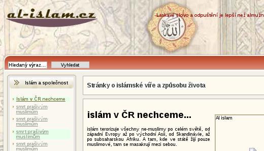 hackerský útok na al-islam.cz