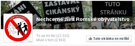 Nechceme živit Romské obyvatelstvo