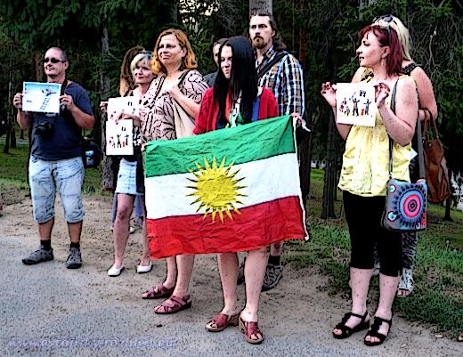Vyjádření nesouhlasu s útoky na Kurdy, 26. 8. 2015, Praha