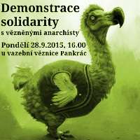 Antifénix: Demonstrace solidarity s vězněnými anarchisty
