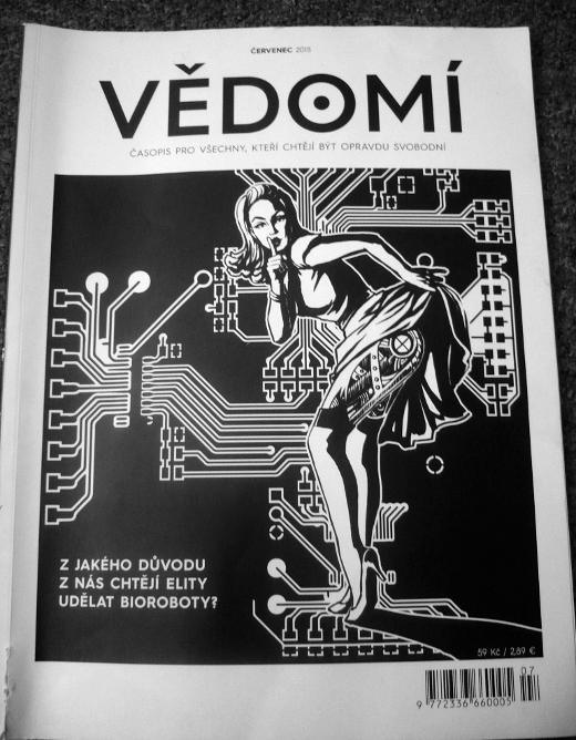 Výtisk časopisu Vědomí, který se rodával spolu se zakoupením vstupenky na Čajomír Fest 2015