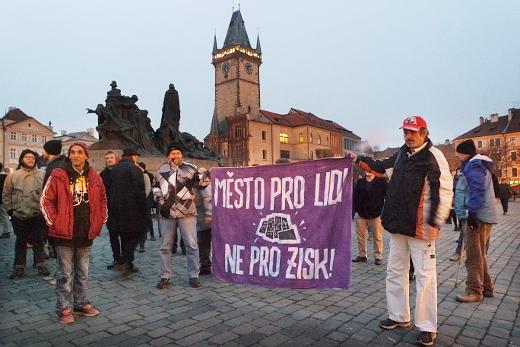 Shromáždění na Staroměstském náměstí v Praze, 30. 1. 2017 (foto: Jan Macháček)