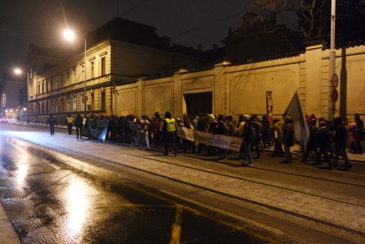 Průvod k Úřadu vlády, Praha 30. 1. 2017 (foto: Jan Macháček)