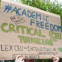 Shromáždění na podporu Středoevropské univerzity