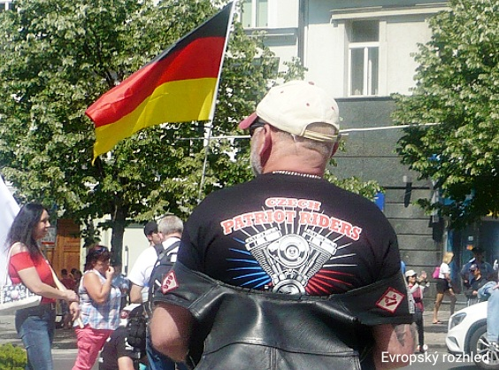 Motorkář z Czech Patriot Riders.