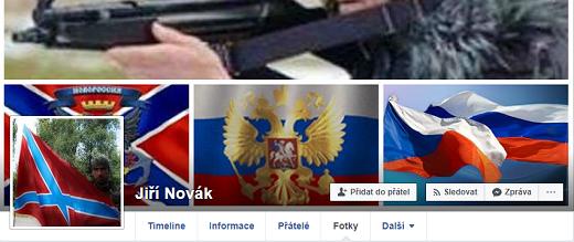 Profil Jiřího Nováka se věnuje online zpravodajství z okupovaných částí Krymu