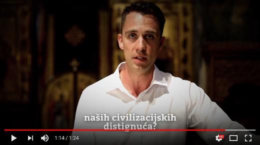 Stefan Popovic ve filmu Kosovo: Moment v civilizaci režiséra Borise Malagurského
