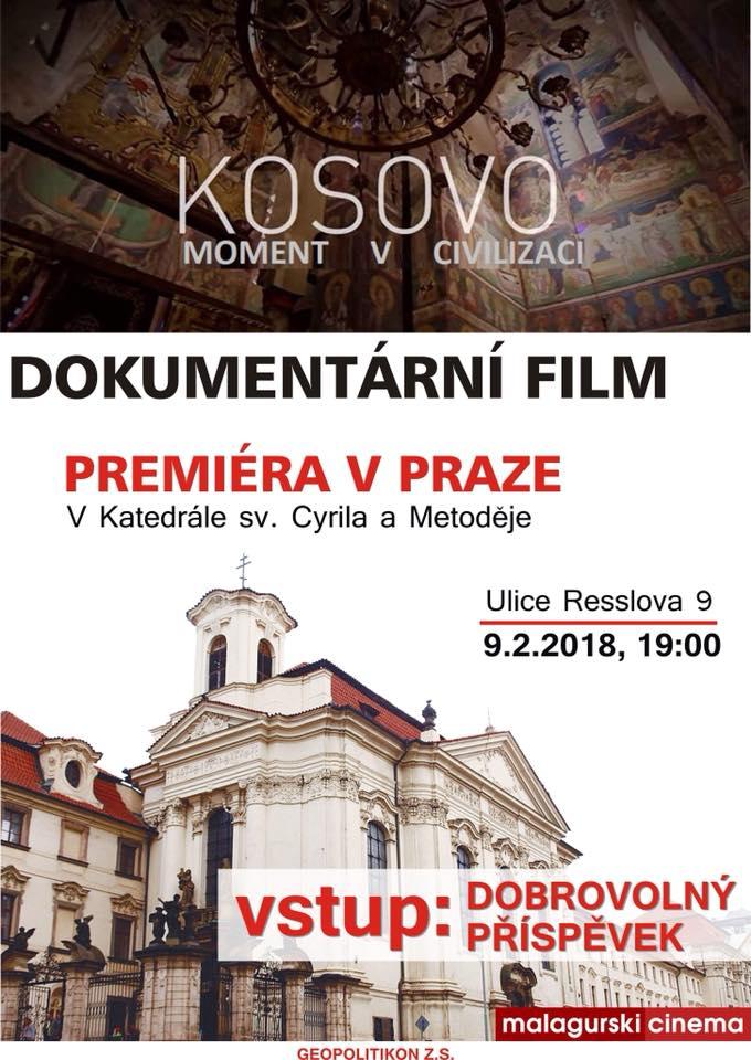 Pozvánka na promítání filmu.