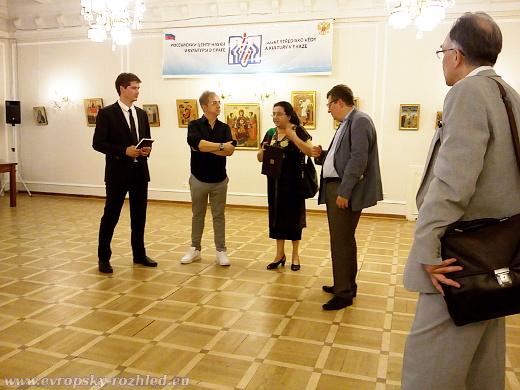 Výstava Srbská ikona - prováděla Blanka Kubešová (pravděpodobně)