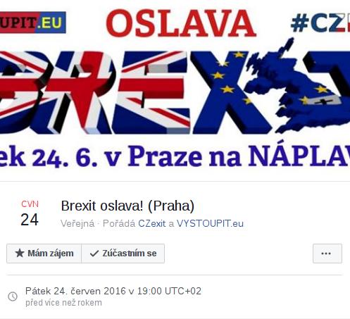 Brexit oslava! (Praha)