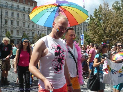 Zástupci gayů, které byste na ulici nerozpoznali do heterosexuálů. Takových v pochodu byly desítky tisíc.
