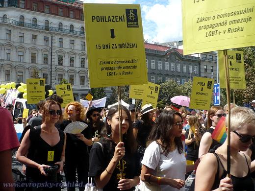 Amnesty International upozorňovala na kritickou situaci homosexuálů v Rusku, především varovala před zákonem o homosexuální propagandě. Jde o novelu ruského federálního zákona na ochranu dětí a mládeže před informacemi potírajícími tradiční rodinné hodnoty.