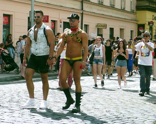 Extravagantní účastníci pochodu byli samozřejmě také přítomni v řádu desítek osob.