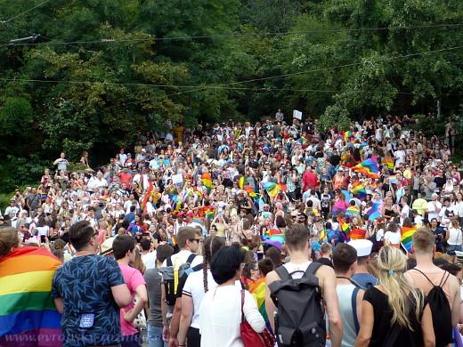 Celý pochod nebylo možné zachytit na jeden snímek, toto je asi setina všech účastníků.