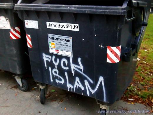 Další popelnice z ulice, nenechte se zmást ulicí Jahodová, všechny stály vedle sebe seřazené v Topolové.