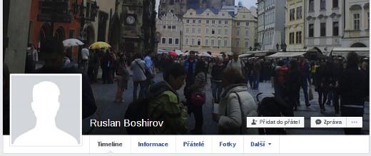 Facebookový profil Ruslana Boširova, který je v zahraničních médiích spojován s možným profilem Ruslana Boširova.