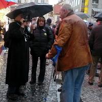 Sté výročí vzniku Československa: Z protiunijní demonstrace na Můstku