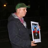 Spolupracovníci separatistů na Donbase protestovali před Velvyslanectvím Ukrajiny a Generálním štábem Armády ČR (část 1.)