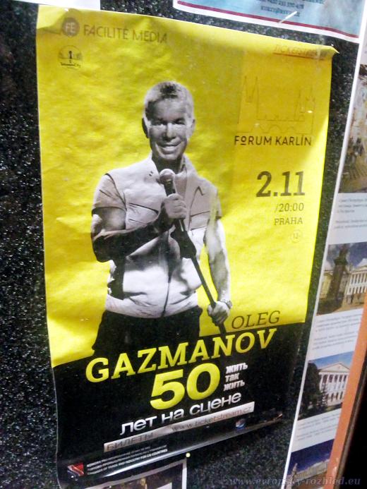 Plakát na nástěnce Ruského střediska vědy a kultury za dne 20. 9. 2018.