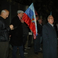 Spolupracovníci separatistů na Donbase protestovali před Velvyslanectvím Ukrajiny a Generálním štábem Armády ČR (část 8.)