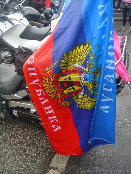 Vlajka neuznané Luhanské lidové republiky