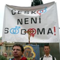 Odpůrci homosexuálů protestovali i proti PC maniakům