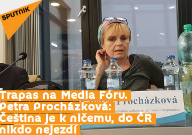 Zmanipulovaný článek na serveru Sputnik, který stál na pozadí celého incidentu na Mediálním fóru 2019