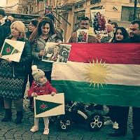 Kurdové v Praze demonstrovali proti turecké politice v Sýrii
