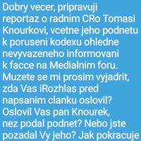 Pátráme po tom, jakým způsobem Rada Českého rozhlasu vyhodnotila porušení Kodexu v usnesení 109/19