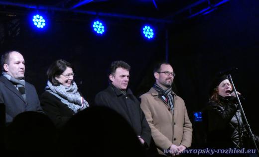 Pieta za Jana Palacha, Václavské náměstí v Praze, 16. 1. 2020