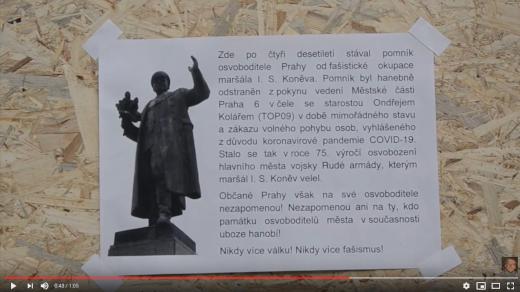 Text k odstranění sochy Maršála Koněva