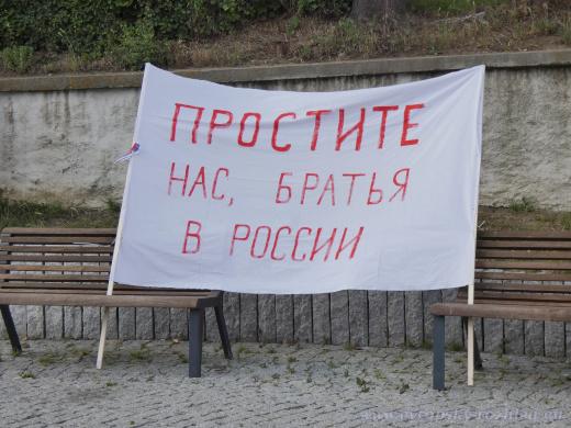 Odpusťte nám, bratři v Rusku.
