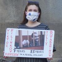 V Praze podpořili odsouzené anarchisty z ruské Sítě