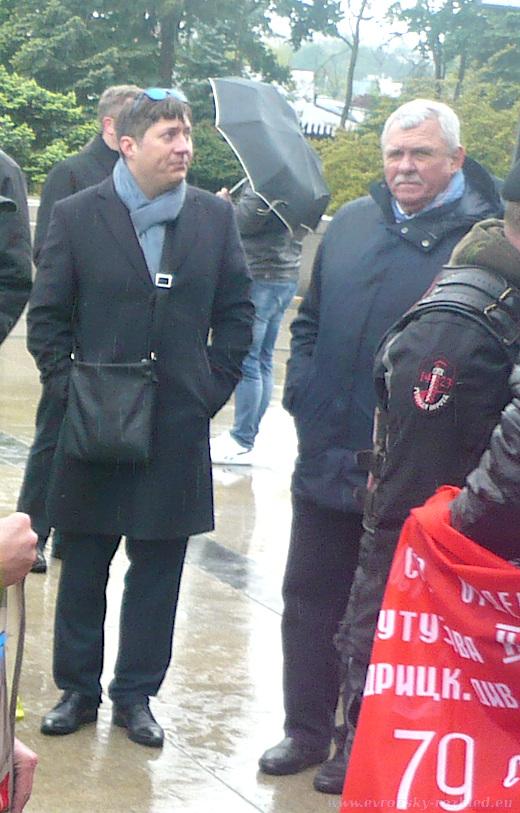 Doprovod velvyslance Alexeje Fedotova na bratislavském Slavíně.