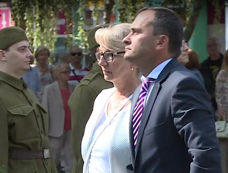 Oleg Sporyšev během vzpomínkové akce ku příležitosti 74. výročí Slovenského národního povstání v Senici.