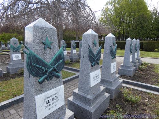 Čestné pohřebiště sovětských vojáků na Olšanských hřbitovech.