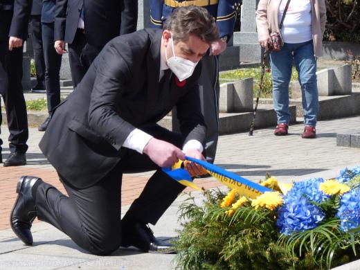 Velvyslanec Ukrajiny v České republice Jevhen Perebyjnis (II).