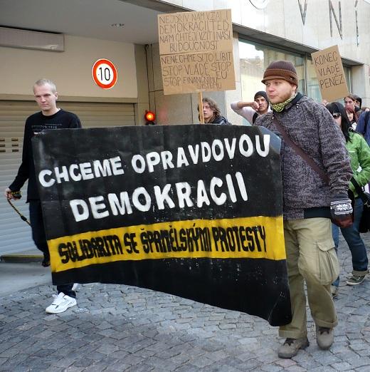 Skutečná DEMOKRACIE TEĎ, 15.10.2011 - foto Ingrid Romancová