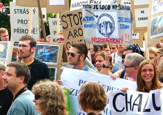 Demonstrace odborné věřejnosti - foto Vít Hnilica
